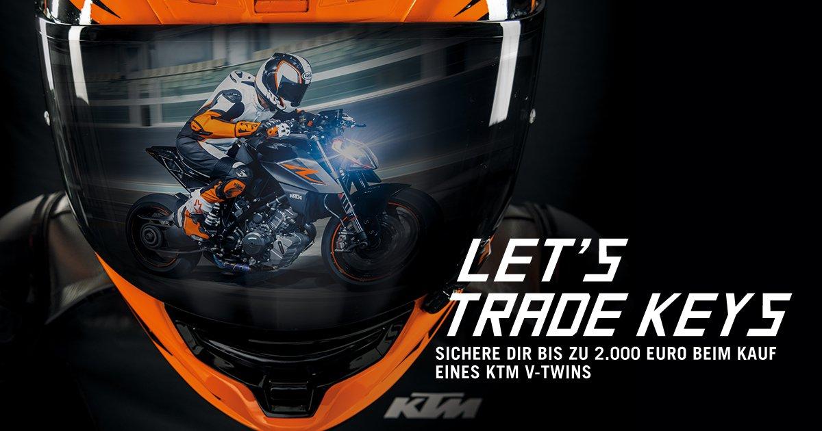 KTM Vertragshändler Motorradsport Schmitt - LET'S TRADE KEYS! Sicher dir bis zu 2000 Euro beim Kauf einer neuen KTM!