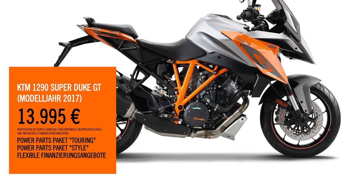 KTM Vertragshändler Motorradsport Schmitt - KTM 1290 SUPER DUKE GT 2017 SIEGERPRÄMIE