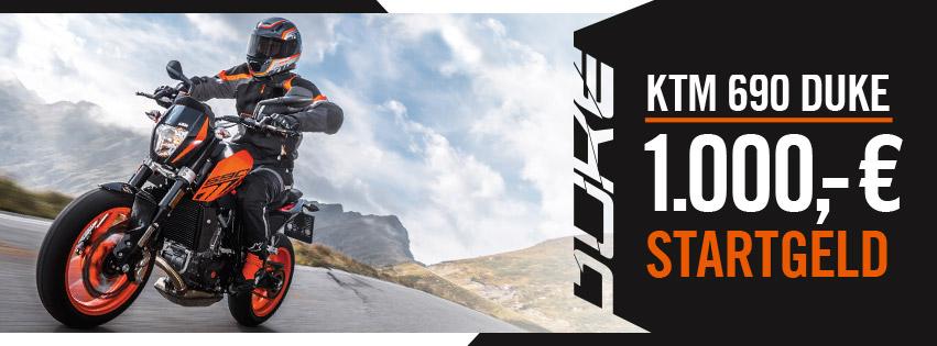 KTM Vertragshändler Motorradsport Schmitt - KTM 690 DUKE 1000 € Startgeld für die Saison 2018