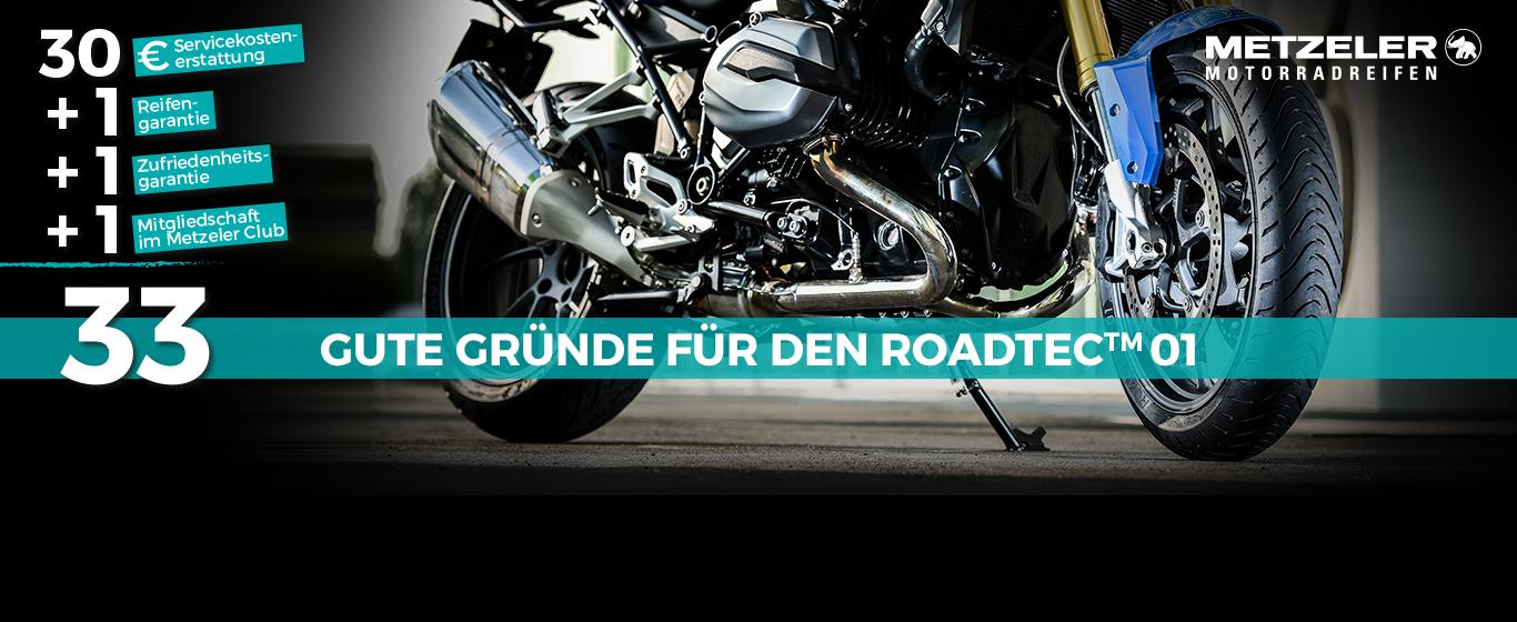 KTM Vertragshändler Motorradsport Schmitt - METZELER Motorradreifen des Typs ROADTEC™ 01