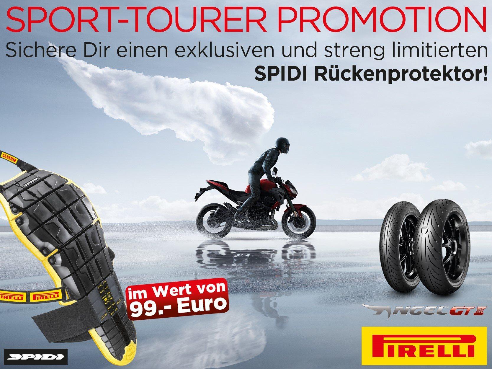 KTM Vertragshändler Motorradsport Schmitt - Pirelli Angel™ GT II kaufen und Spidi-Protektor gratis bekommen