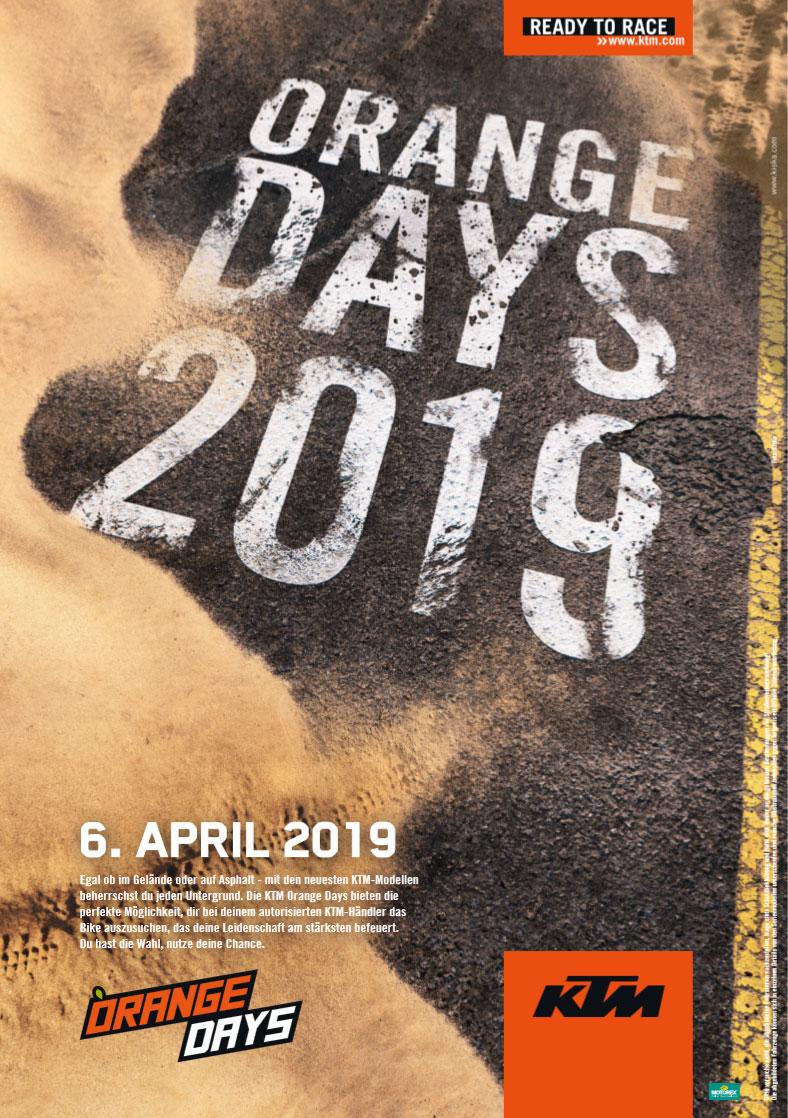 KTM Vertragshändler Motorradsport Schmitt - KTM ORANGE DAYS 2019